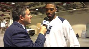 'Villanova basketball: Mikal Bridges Interview' from the web at 'https://ht.cdn.turner.com/ncaa/big/2017/12/06/1512536601491-MikalBridges-w-AndyKatz-mov_1781974_2_300x168.jpg'