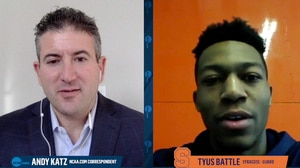 Syracuse's Tyus Battle talks zone defense...