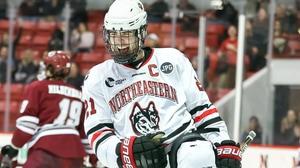 Northeastern's Nolan Stevens notches hat-trick