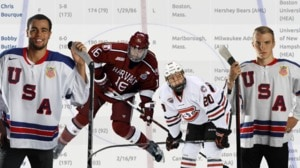NCAA men's ice hockey athletes take the...