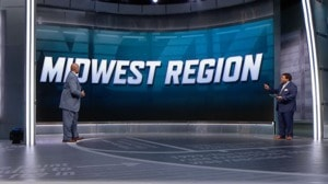 Kansas holds the No. 1 spot in the Midwest Region of the NCAA tournament