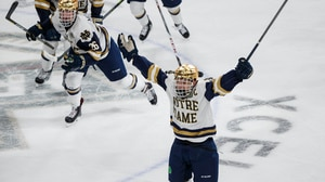 The Irish stun Michigan with goal in final seconds
