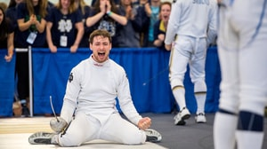 Freshman Nick Itkin helps lead Notre Dame to fencing team championship