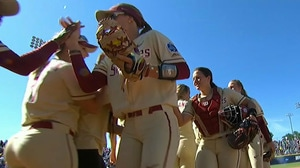 Florida State's Elizabeth Mason hits a three-run home run to beat UCLA 3-1