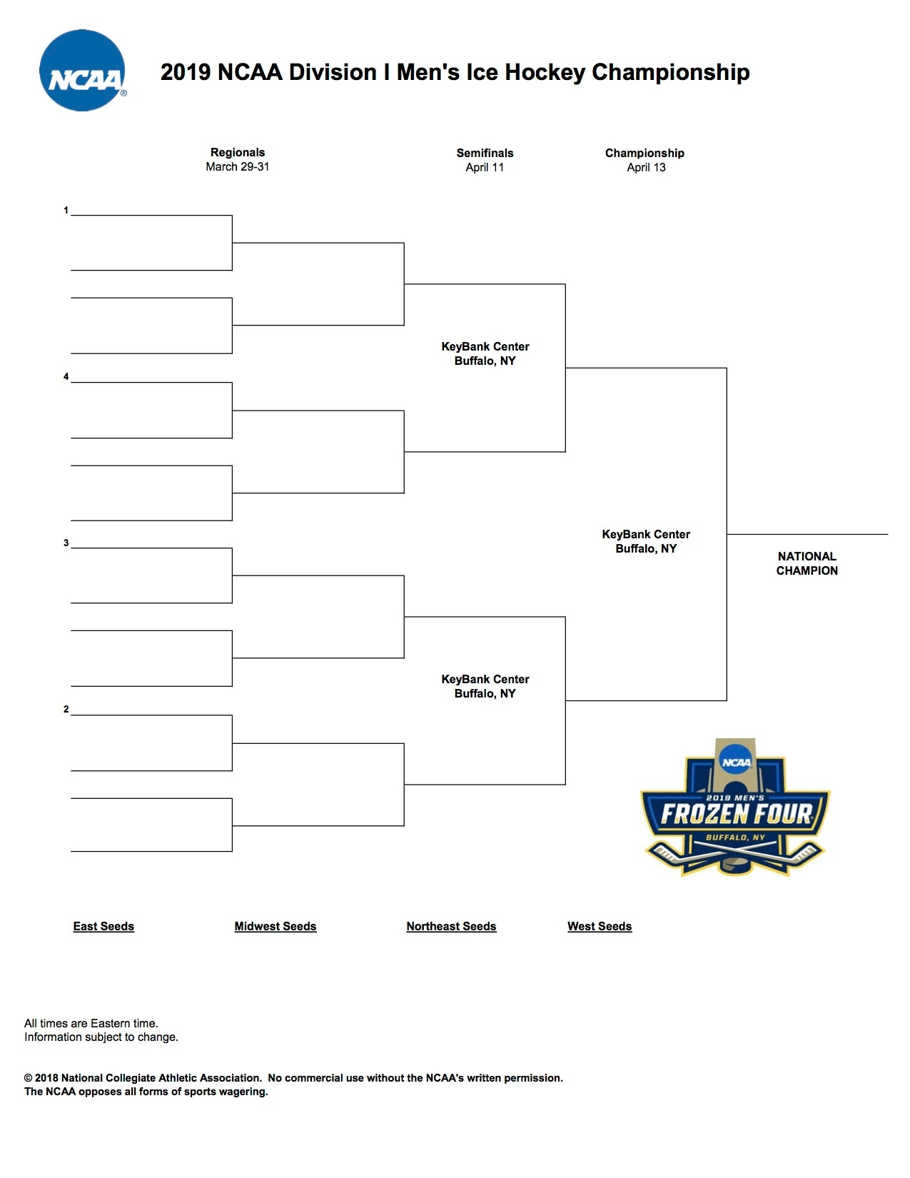 This is an image of Nerdy Printable Nhl Bracket