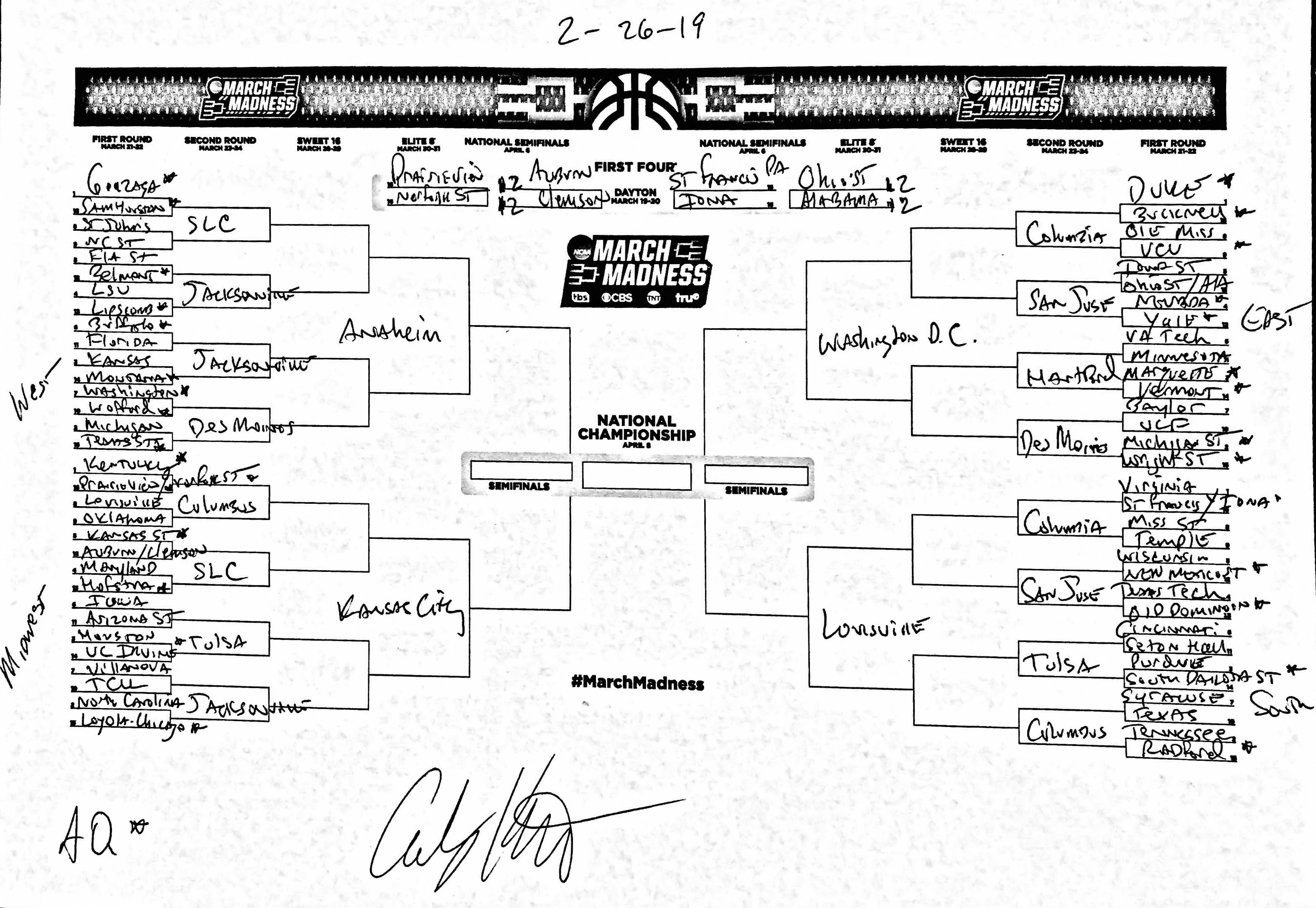 90382392544 The complete March Madness field of 68 predicted in the last days ...