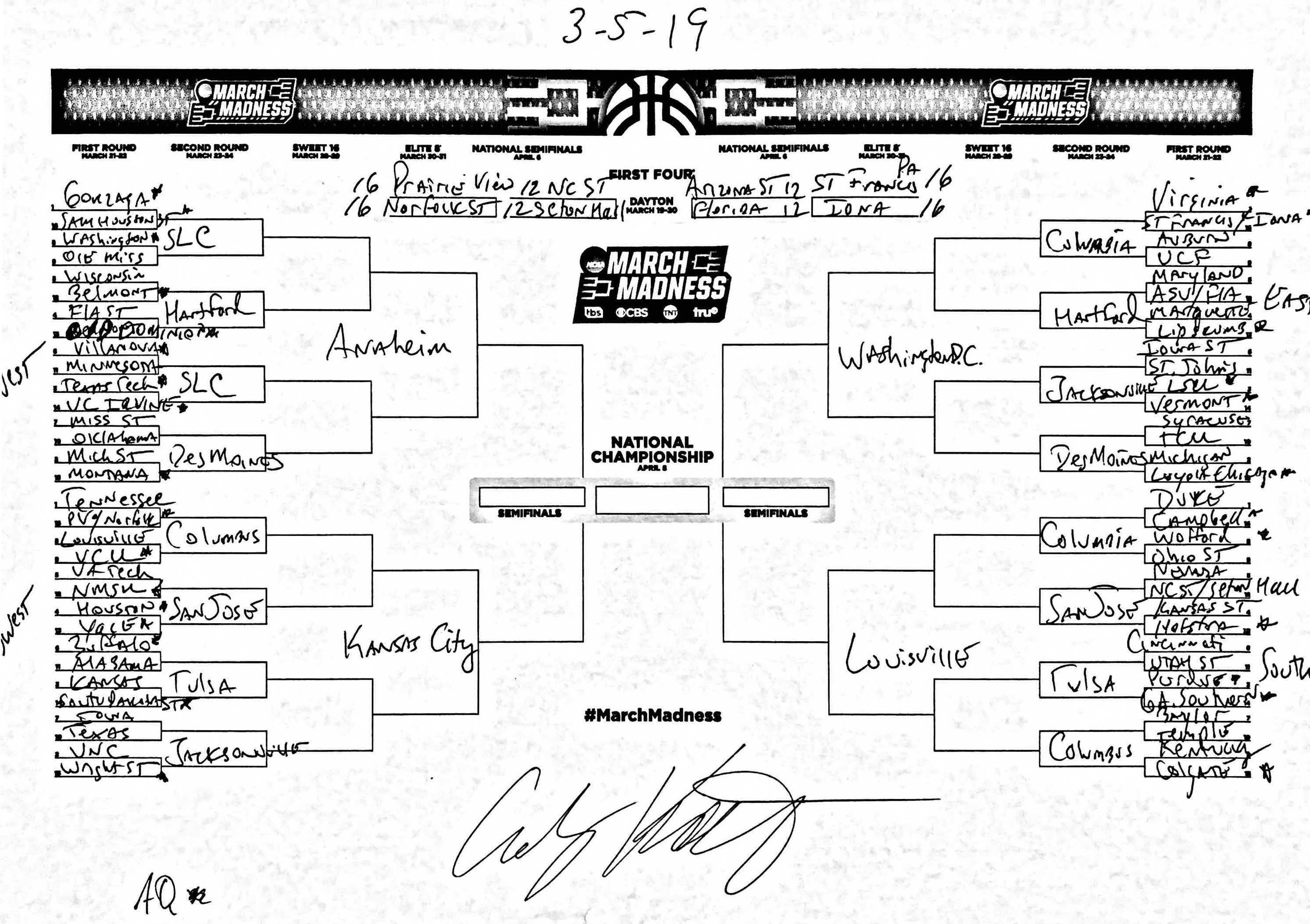 The complete March Madness field of 68, predicted in the first days